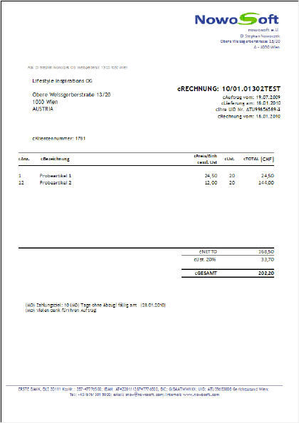 Rechnungsformulare